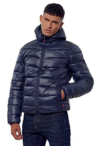Kaporal - Doudoune régular Homme avec Capuche en 100% Polyester recyclé - Bilor - Homme - S - Bleu