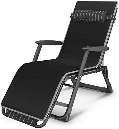 xiaowang Relax-ligstoel, loungestoel, klapstoel, lunchbed, lazy bank, stoel, thuis, balkon, vrije tijd, stoel, strand, camping, comfortabele stoel, verstelbaar, belasting 300 kg (B)