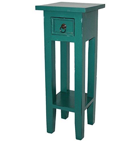 LioLiving®, Telefonkonsole Orkney im Vintage-Look aus Mahagoniholz (pastellgrün) (#400190)