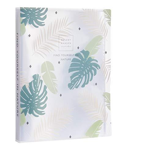 Inyear Archivador multicapa con clip A4, plástico, 23 x 31 cm, 60 páginas, color verde