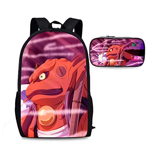 Naruto Niños Mochilas Escolares 2 Piezas Establece Mochilas + Bolsa de lápiz por un Estudiante Guapo Mochila Mochila Impermeable Unisex Niños (Color : A16, Size : 28 X 13 X 44cm)