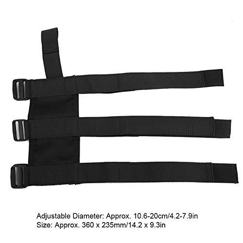 Auto Car Fire Extinguisher Fixing Holder Belt Car Storage Fire Extinguisher Fixed Belt Adjustable Holder Safety Strap Fits for TJ YJ JK CJ(Black)