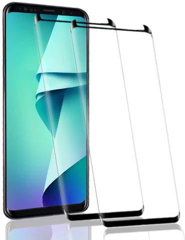 RSSYTZ [2 Pack Protector de Pantalla para Samsung Galaxy S8, [9H Dureza] [Resistente a Arañazos] [Admite la función de Huella Digital] Vidrio Templado Screen Protector para Samsung Galaxy S8