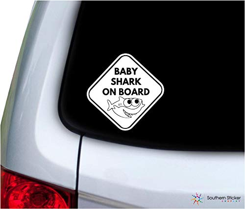 Baby Shark on Board Sign 5.4 Size inches Baby...