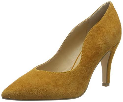 CAPRICE Damen Effi Pumps, Gelb (Mustard Suede 639), 37 EU