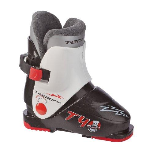 TecnoPro Skistiefel T40 Kinder Skischuh (Farbe / Größe: 903 schwarz/weiss - 24 Mondopoint-37 Schuhgröße)