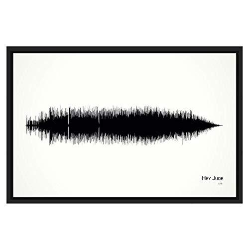 Hey Jude - Framed Soundwave print