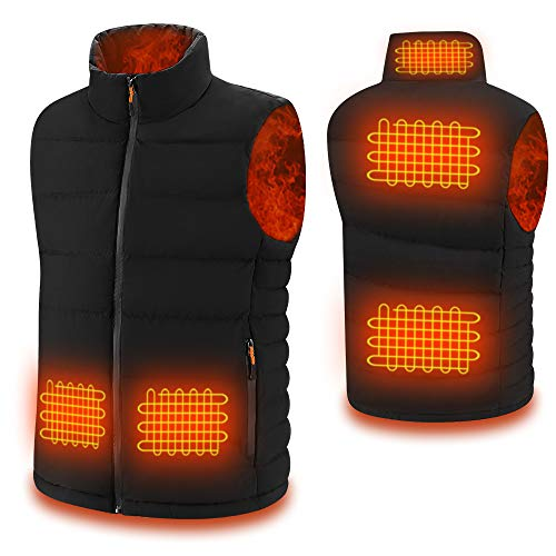 Heated Vest for Men/Women with Hidden Switch, USB Charging Heated Jacket Washable for Outdoor Motorcycle Riding Fishing Hunting Camping (X-Large)