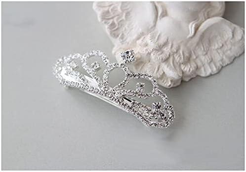 TranTran 2021new shipping free PTCNNC Crystal In a popularity Princess Small Barrettes Girls P