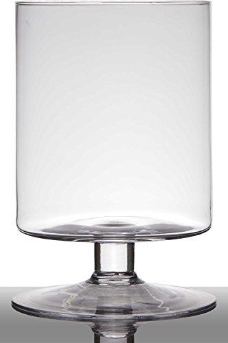 INNA-Glas Lot 2 x Pot de Fleurs en Verre Lilian sur Pied, Cylindre - Rond, Transparent, 29cm, Ø19cm - Verre à Bougie - Bac à Fleurs
