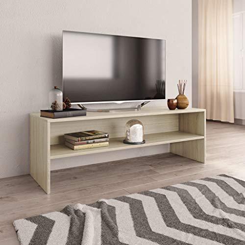 Tidyard Mobile Porta TV in Truciolato Rovere di Sonoma, con Un Vano a Giorno, Tavolo TV, Mobiletti per Soggiorno, 120x40x40 cm