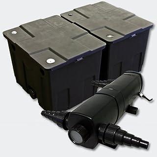 SunSun Set Filtro estanques CBF-350B hasta 60000l 18W clarificador UV CUV-218