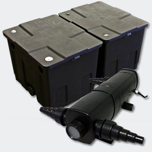 Kit SunSun de Filtration de Bassin Bio Filtre 60000l Stérilisateur UVC 36W
