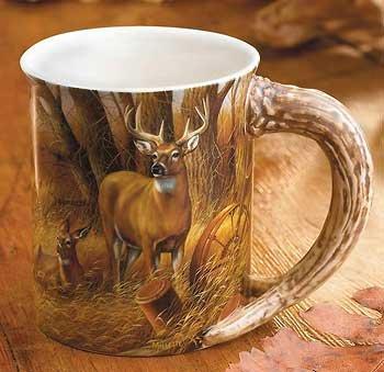 Wild Wings Rustic Retreat Whitetail Deer Sculpted Mug