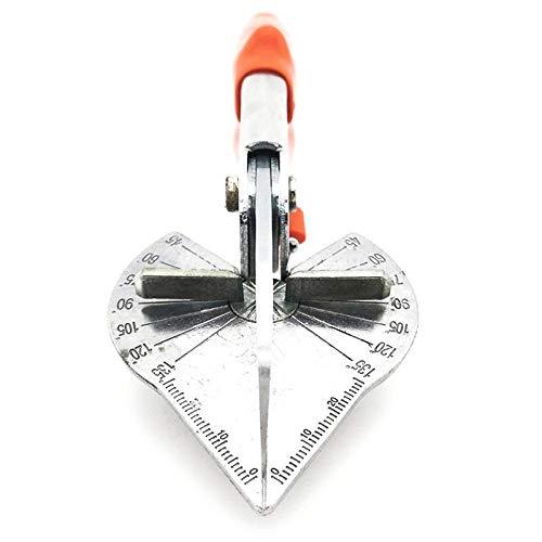 NeeyBing Cortador de inglete en ángulo, herramienta de corte de ángulo de 45 a 135 grados, incluye hoja de repuesto para cortar tubos de PVC PE, rama, alambre.