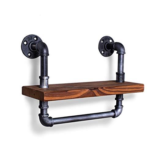 Plank industrieel windpijprek badkamer handdoekenrek wanddecoratie boekenkast