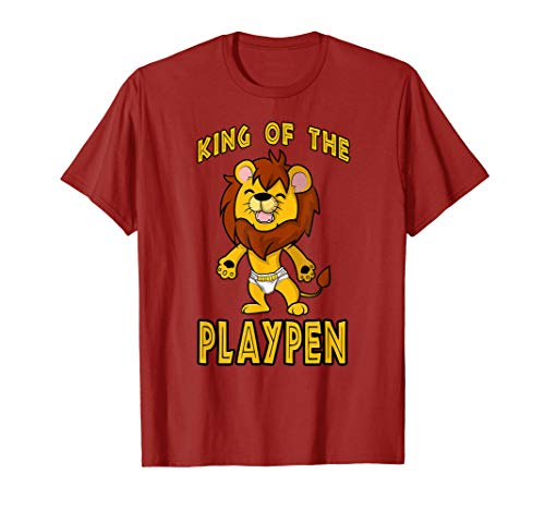 Mens Baby Lion Cub King of the Playpen ABDL T-Shirt