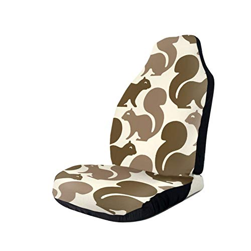 Fathyu Squirrel Print Funny Print Car Seats Cover Universal Long Lasting Dirt Resisted Front Seats Cover Easy Clean Bucket Seat Cover With Elastic Band For Camp Truck Van Mini Suvs And Many Vehicles