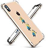 Allsky Case for iPhone Xs Max 6.5',Clear Cartoon Design Pattern Soft Cute Fun Ultra-Thin Cover,Kawaii Kids Girls Animal Skin Creative Shockproof Funny Piglet.Cases for iPhoneXS Max 6.5' Yellow Man