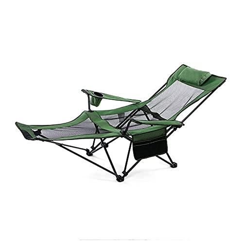 Taburete portátil de la silla de playa que acampa de los muebles al aire libre, Silla tipo mochila plegable ultraligera Silla ligera plegable pequeña para viajes, picnic, senderismo,Verde