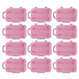 12pcs Mini Travel Hard Suitcase Box Wedding Favors Party Reception Candy Toy - Pink