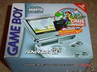 Pearl Blue Game Boy Advance SP Super Mario World Bundle