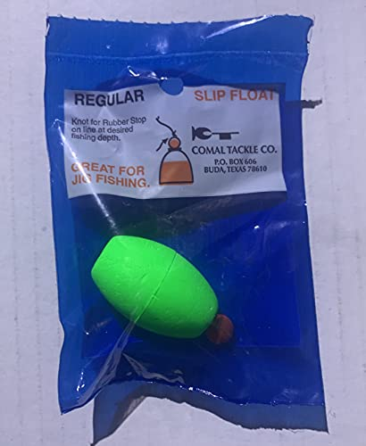 """Comal Tackle Oval Slip Bobbers Qty. 10 Pick Your Color and Size (Green, 2.5"""")"""