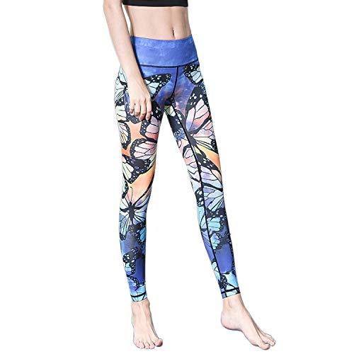 vesliya Yoga Pants Printed Running Leggings Capris Yoga Capris for Fitness Riding Running Dragonfly 0-2