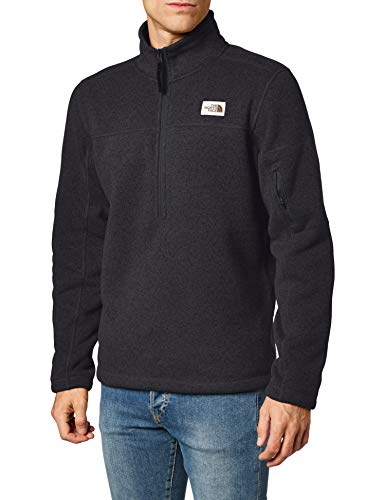 The North Face Men's Gordon Lyons ¼ Zip, TNF Black Heather, L