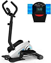 LCSW Elliptical Machine Cross Trainer Cross Trainers, Eliptical Trainer with Multifuctional Display Home Gym Exercise Step Machine Air Walker, Fitness Equipment 16-Speed Resistance