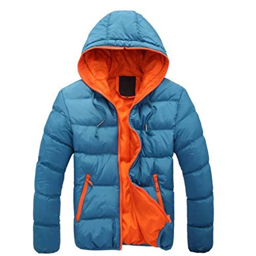 DBSUFV Abrigo de algodón con Capucha , Cuello Alto Transpirable Diseño de Cremallera Chaqueta con Dobladillo Redondo Ropa de Moda para Hombres (M-4XL)
