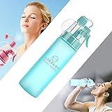 LINGLAN Botella de agua con spray para deportes Botella de agua de 580 ml para ciclismo, escalada, senderismo y montañismo (580 ml, azul esmerilado)