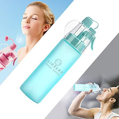 LINGLAN Botella de agua para deportes Botella de agua de 580 ml para ciclismo, escalada, senderismo y alpinismo (580 ml, azul esmerilado)