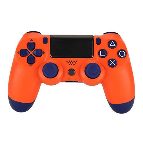 VAWA Controlador de Juego inalámbrico-Bluetooth 4.0 Cargador rápido Doble con Pantalla LED, Material ABS, para Playstation 4 / PS4 Slim/PS 4 Pro/PC-Orange