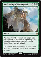 Name: Awakening of Vitu-Ghazi Set: War of the Spark A single individual card from the Magic: the Gathering (MTG) trading and collectible card game (TCG/CCG).