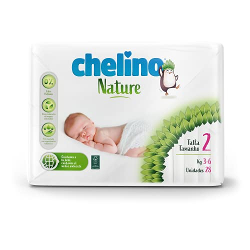 Chelino Nature Pañal Infantil Talla 2 (3-6 kg), 168 Pañales