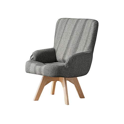 XJAXY Linen Upholstered Modern Accent Chair for Living Room, Bedroom, Retro Sofa Chair for Bedroom Living Room,Deep Seat Chair with Sturdy Wood Legs