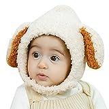 Folding Gorros de Aviador Niño Sombrero del Invierno con Orejeras Bufanda de la Capilla Caliente Grueso del bebé del niño niña En la Felpa del Casquillo Trapper (Color : Beige)