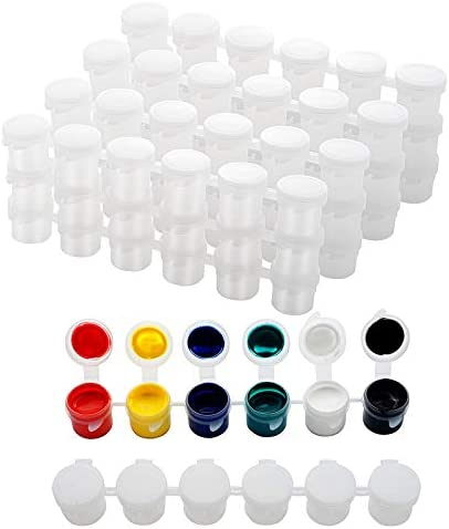30 Strips Empty Paint Strips Paint Cup Pots Clear Storage Containers Painting Arts Crafts Supplies product image