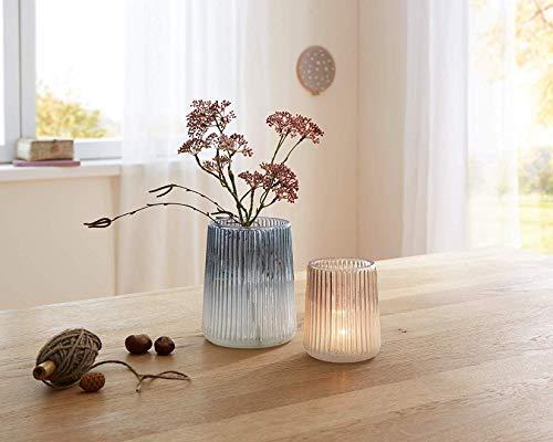 2 Deko-Gläser Frozen in geeister Optik, Vase, Kerzenhalter, Teelichtständer,Windlicht