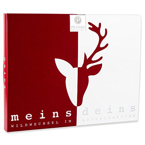 """Peters Adventskalender """"meins & deins"""" Pralinen, 1er Pack (1 x 290 g) Limitierter Kalender für Pärchen"""