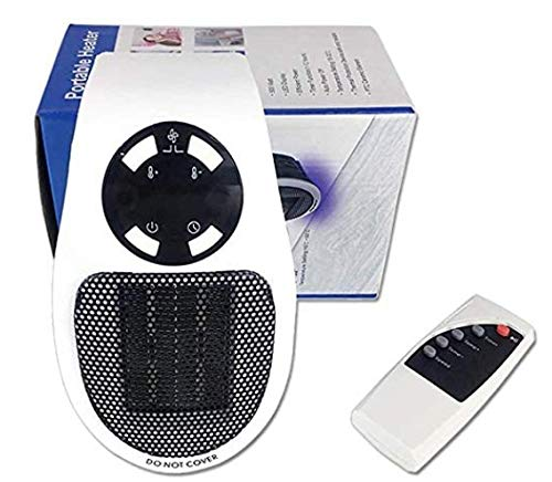 Calefactor de baño eléctrico de 500 W con termostato ajustable de 12 horas de tiempo programable para cuarto de baño, habitación de los niños, dormitorio, oficina