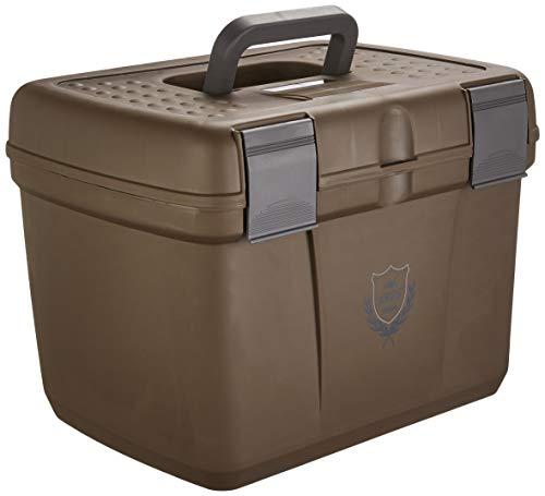 PFIFF 101562-87-2 Putzkiste Putzbox für Pferde stabil groß, L, braun-grau