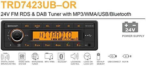 24V Bluetooth Truck PKW LKW Bus Radio RDS & Dab sintonizador MP3WMA USB 24V 2910000431200