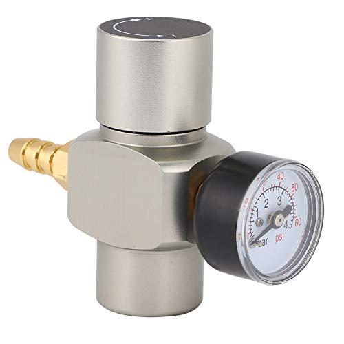 Omabeta Medidor de presión Conector rápido de 3/8 Pulgadas Mini regulador de CO2 de Acero Inoxidable para contenedor de Agua de Soda Barril de Vino Barril de Cerveza automático Accesorios