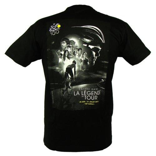 T-Shirt 'Légende du Tour de France' Officiel - Noir (S)