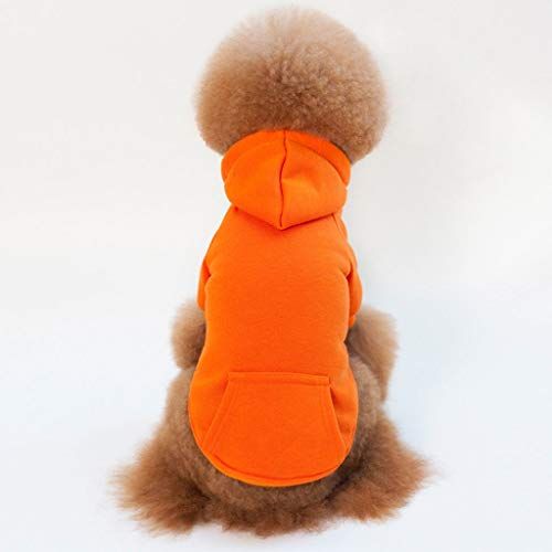 Katoen fleece, puppy kat leuk capuchon kleine grote hond kat kleding vier-voet fleece teddy kleine hond lente herfst (Color : E, Size : M)