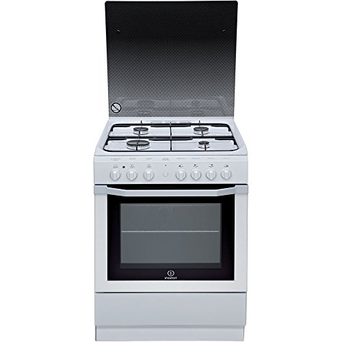 Photo de indesit-i6g6c1agw-fr-cuisiniere-cuisiniere-a-gaz-a-blanc-four-et