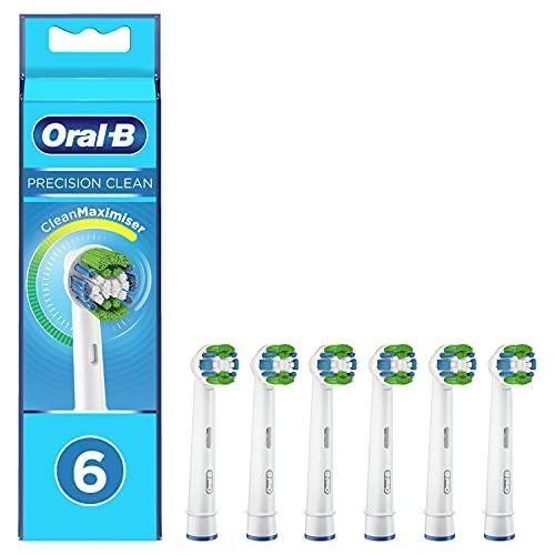 Oral-B Precision Clean Cabezales de Recambio, Pack de 6 Recambios Originales con Tecnología CleanMaximiser para Cepillos de Dientes Eléctricos