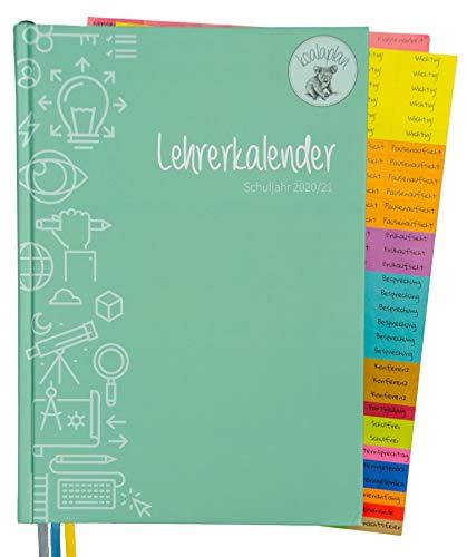 koalaplan Lehrerkalender A4 2020/2021 Lehrerplaner Terminkalender Terminplaner Schulplaner Schulkalender Unterrichtsplaner Schuljahresplaner Planer und Kalender für Lehrer